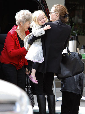 Angelina Jolie Spends the Day with Brad Pitt's Mom – and Her Twins | Angelina Jolie