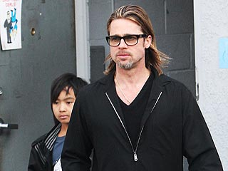 Brad Pitt & Maddox Go Guitar Shopping in Hollywood | Brad Pitt, Maddox