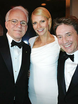 Gwyneth Paltrow & Steve Martin Have a Love-Hate Moment at the Oscars| Academy Awards, Oscars 2012, Celebrity Scandals, Gwyneth Paltrow, Martin Short, Steve Martin