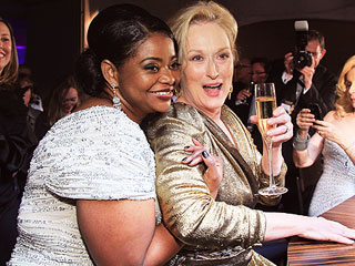 Meryl Streep Celebrates Her Oscar Win – with a Burger | Meryl Streep, Octavia Spencer