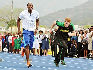 PHOTOS: Prince Harry Races Olympic Sprinter Usain Bolt | Prince Harry, Usain Bolt