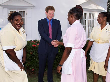 Prince Harry Charms His Jamaican Hotel Staff