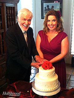 PHOTO: Dick Van Dyke Cuts Wedding Cake with New Bride | Dick Van Dyke