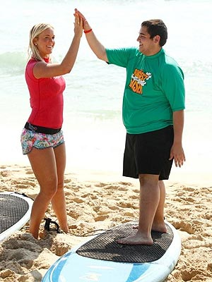 Biggest Loser Contestants Get Surfing Lesson From Bethany Hamilton