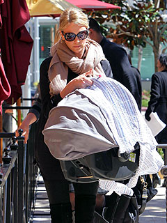 PHOTO: Charlize Keeps Jackson Under Wraps | Charlize Theron
