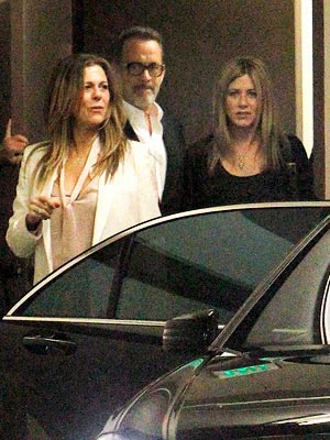 Jennifer Aniston & Justin Theroux&#39;s Double Date with Tom Hanks & Rita Wilson | Jennifer Aniston, Rita Wilson, Tom Hanks