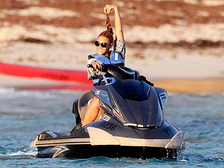 Beyoncé's Hair-Raising Jet Ski Ride