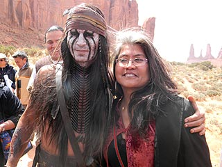 PHOTOS: Johnny Depp Receives Gifts from &#39;Star Struck&#39; Navajo Visitors | Johnny Depp