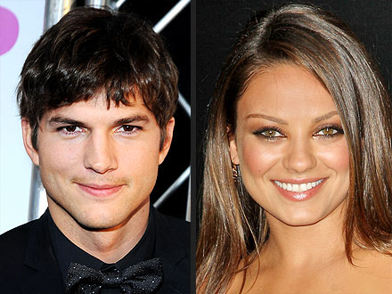 Ashton & Mila 'Looked Like Young Love' at Wrap Party in L.A. | Ashton Kutcher, Mila Kunis