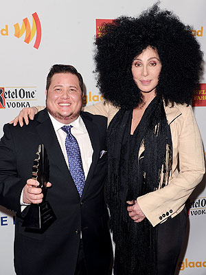 Cher Surprises Chaz Bono at GLAAD Media Awards