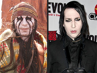Did Marilyn Manson Inspire Johnny Depp's Tonto? | Johnny Depp, Marilyn Manson
