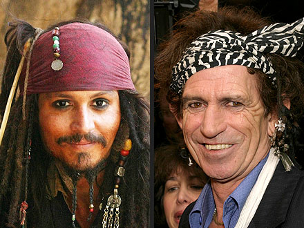 Johnny Depp: Did Marilyn Manson Inspire Tonto Look?| Pirates of the Caribbean: At World's End, The Lone Ranger, Armie Hammer, Johnny Depp, Keith Richards, Marilyn Manson