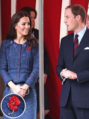 Kate Middleton Wears Patriotic Poppy Brooch at Charity Event