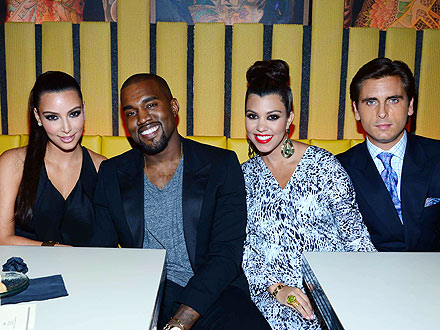 Kanye West Fits Right in with the Kardashians | Kanye West, Kim Kardashian, Kourtney Kardashian, Scott Disick