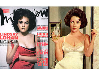 Lindsay Lohan Looks Just Like Liz Taylor in Old Photo | Elizabeth Taylor, Lindsay Lohan