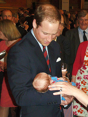 Prince William and Kate Dote on Newborn Baby