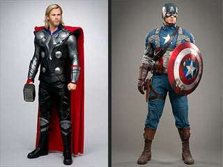 FIRST LOOK: Captain America and Thor Land in New York