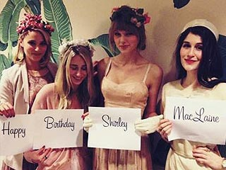 Taylor Swift and Dianna Agron Play Birthday Dress-Up (Again!)| Dianna Agron, Shirley MacLaine, Taylor Swift