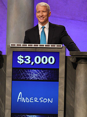 Anderson Cooper on Jeopardy - Photo