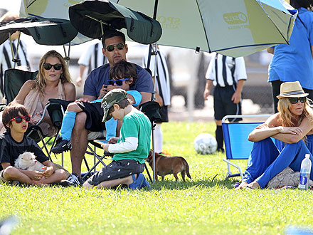 LeAnn Rimes & Brandi Glanville Reunite for Children's Soccer Game