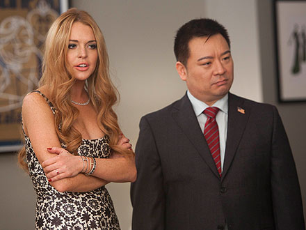 Lindsay Lohan on Glee: See New Photos| Glee, Lindsay Lohan, Rex Lee