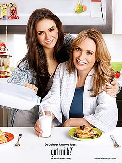 PHOTO: Nina Dobrev and Her Mom Pose for a Got Milk Ad
