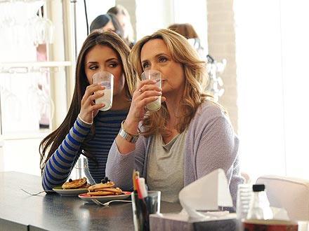 Nina Dobrev and Her Mom Pose for a Got Milk Ad| The Vampire Diaries, Nina Dobrev