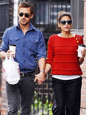 Ryan Gosling Dating Eva Mendes - Spotted Holding Hands in N.Y.C.