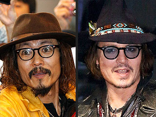 PHOTO: Johnny Depp And His Japanese Impersonator | Johnny Depp
