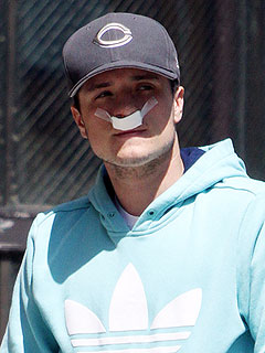Poor Josh! First Shot of The Hunger Games Star Post-Surgery