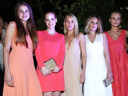 Jessica Chastain & Shailene Woodley Dance the Night Away in Cannes | Diane Kruger, Jessica Chastain, Ludivine Sagnier, Naomi Watts, Shailene Woodley