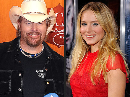 Toby Keith Without Hat Toby keith and kristen bell to