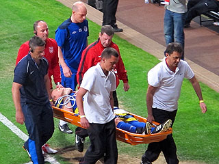 Gordon Ramsay Leaves Charity Soccer Game on a Stretcher (Photo)