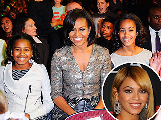 Michelle Obama & First Daughters Dance at Beyoncé Concert