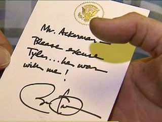 President Obama Writes Absence Note for Fifth Grader| Real People Stories, Barack Obama