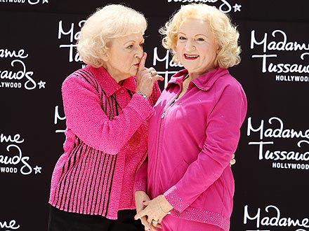 Betty White Wax Figure Unveiled