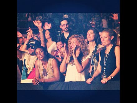 Beyonc&#233; & Gwyneth Paltrow Cheer Jay-Z in Paris | Beyonce Knowles, Gwyneth Paltrow, The Dream