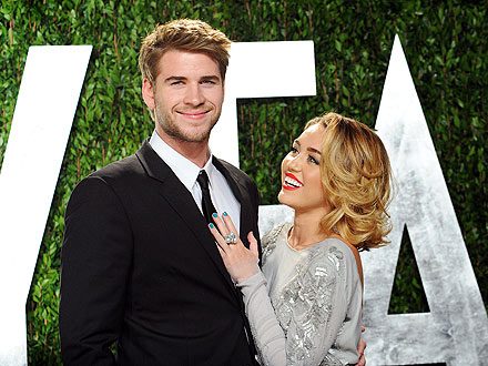 Miley Cyrus Liam on Miley Cyrus  Liam Hemsworth Are Engaged