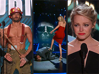 Charlize Kicks Butt, Joe Goes Shirtless & Emma Trailblazes: Movie Awards Highlights