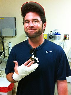 Country Star David Nail Breaks Finger Playing Softball with Carrie Underwood