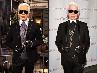 PHOTO: Can You Tell the Real Karl Lagerfeld from His Wax Figure? | Karl Lagerfeld