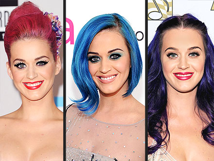Katy Perry Hair Colors