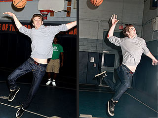 Andrew Garfield Shoots Hoops in NYC