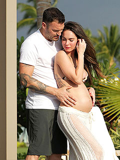 PHOTO: Brian Austin Green Cradles Megan Fox's Pregnant Belly! | Brian Austin Green, Megan Fox