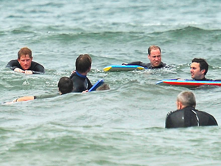 Prince Harry & Prince William Frolic in the Surf| The British Royals, Kate Middleton, Prince Harry, Prince William