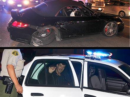 Robin Thicke Car Crash