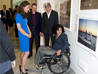 See Kate&#39;s Olympic-Inspired Outfit for Art Exhibit Visit | Kate Middleton