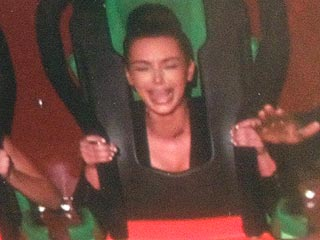 Kim Kardashian Cries on a Roller Coaster with Kanye West| Couples, Caught in the Act, Kanye West, Kendall Jenner, Kim Kardashian, Kylie Jenner