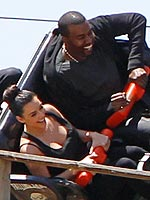 Kim & Kanye Scream and Cry on Rides at Six Flags Magic Mountain | Kanye West, Kendall Jenner, Kim Kardashian, Kylie Jenner