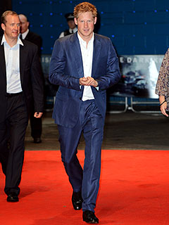 Prince Harry Suits Up for the Dark Knight Premiere | Prince Harry
